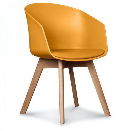 Fauteuil scandinave design miel