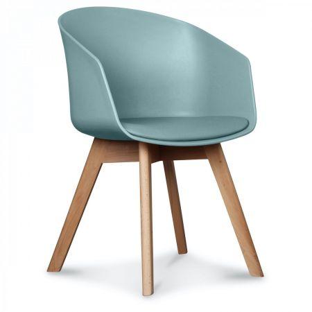 Fauteuil scandinave design vert thym