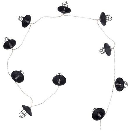Guirlande lumineuse LED Industriel noire en métal