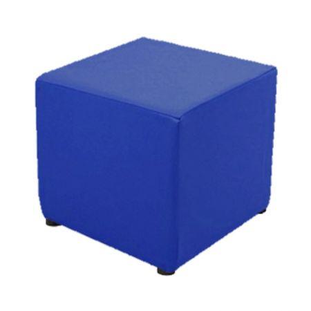 Housse bleue pour pouf