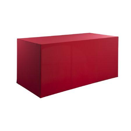 Housse buffet rouge 200x94x90