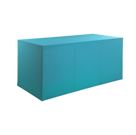 Housse buffet turquoise 200x94x90