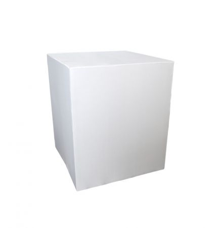 Housse demi-buffet blanche 94x94x110