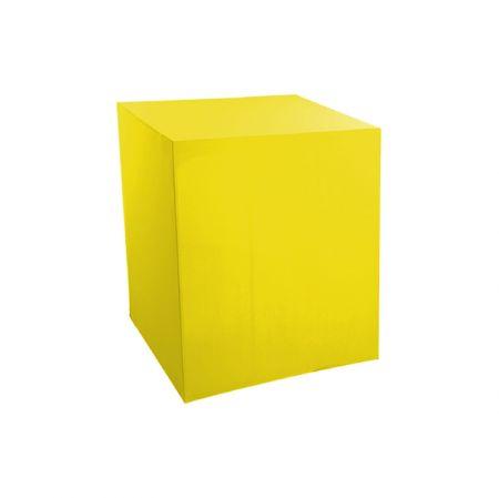 Housse demi-buffet jaune 94x94x110