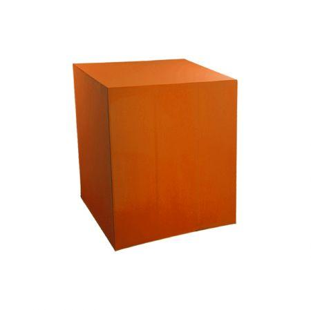Housse demi-buffet orange 94x94x110