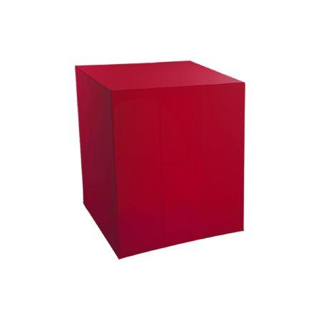 Housse demi-buffet rouge 94x94x110