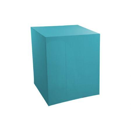 Housse demi-buffet turquoise 94x94x110