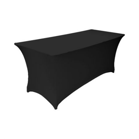 Housse extensible noire pour table 183x76x74cm
