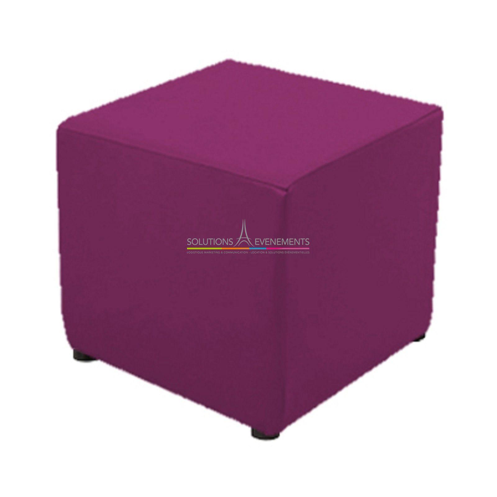 location assise pouf fuchsia housse couleur solutions evenements. Black Bedroom Furniture Sets. Home Design Ideas