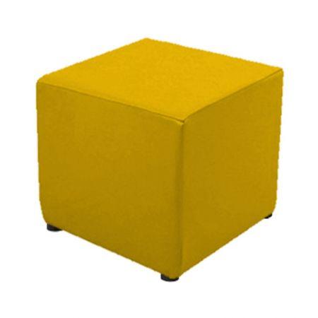 Housse jaune pour pouf