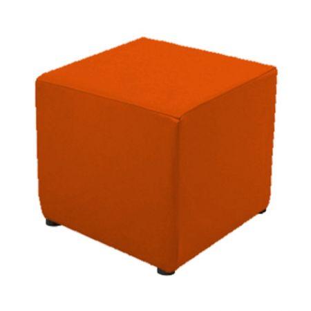 Housse orange pour pouf