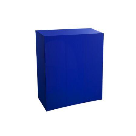 Housse quart-de-buffet bleue 94x45x110