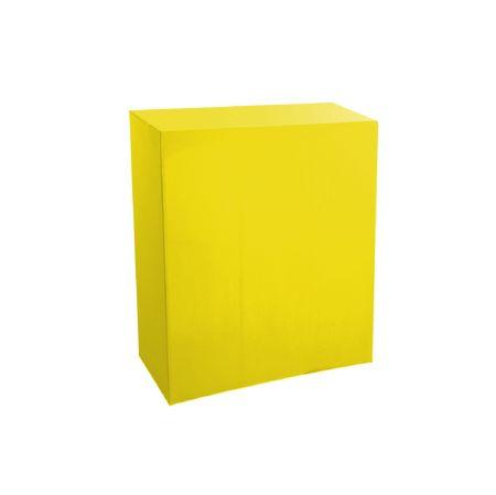 Housse quart-de-buffet jaune 94x45x110