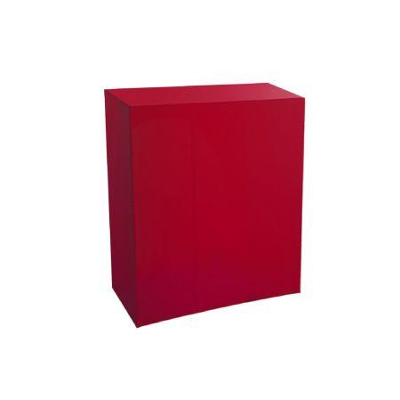 Housse quart-de-buffet rouge 94x45x110