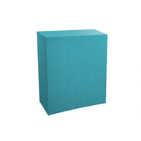 Housse quart-de-buffet turquoise 94x45x110