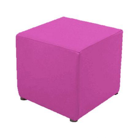 Housse rose pour pouf
