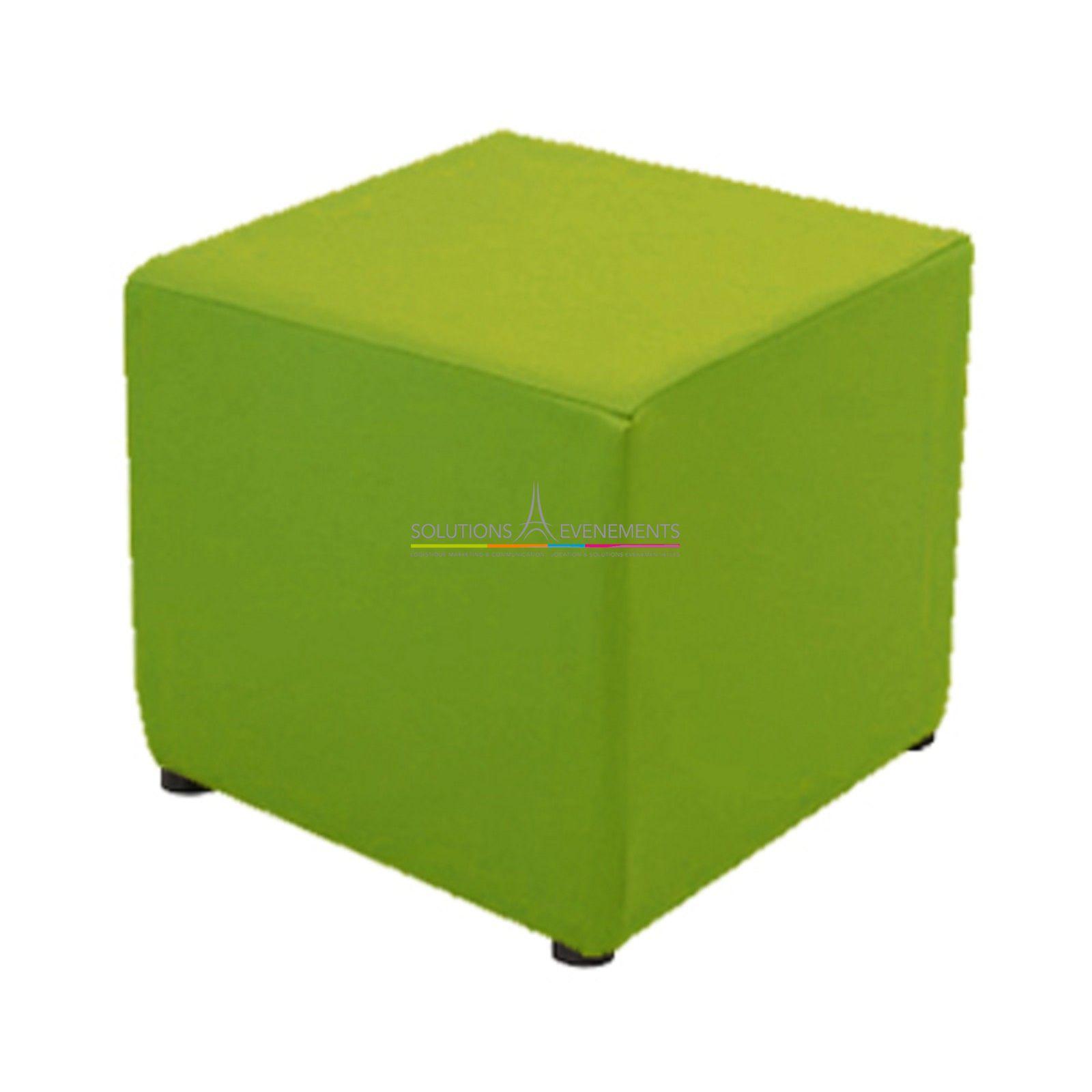 location assise pouf vert housse couleur solutions evenements. Black Bedroom Furniture Sets. Home Design Ideas