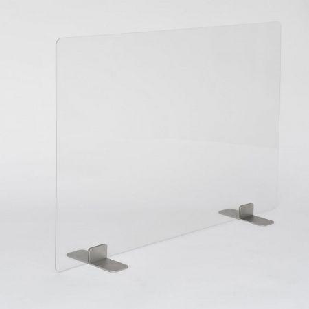 Hygiaphone design 1000mm x 750mm - pied aluminium