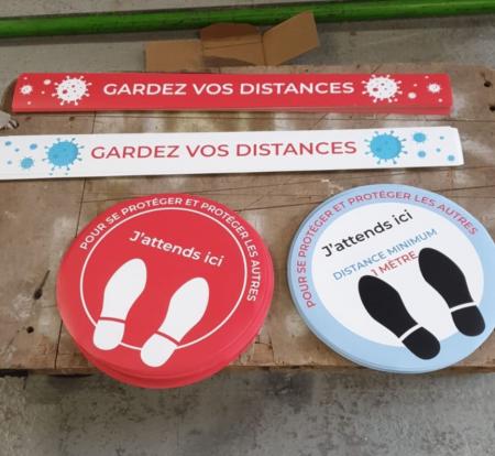 Kit 10 Stickers rond diam 40cm  personnalisés
