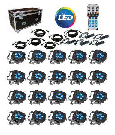Kit 20 projecteurs LED avec cablages