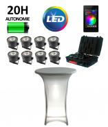 Kit 8 Spots LED - Eclairage mange debout