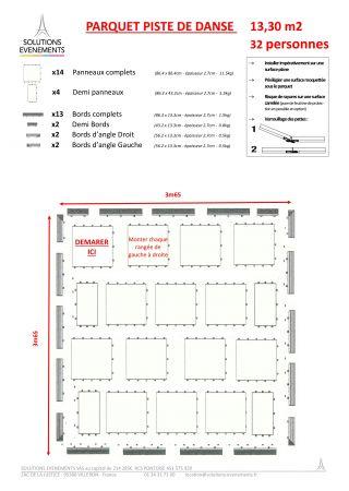 Kit parquet piste de danse - 13m2-32 pax