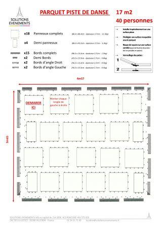 Kit parquet piste de danse - 17m2-40 pax