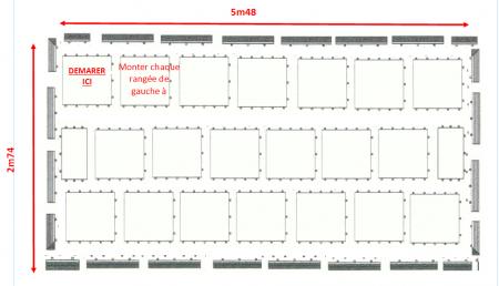 Kit parquet piste de danse - 18m2-42 pax