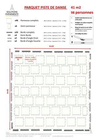 Kit parquet piste de danse - 41m2-100 pax