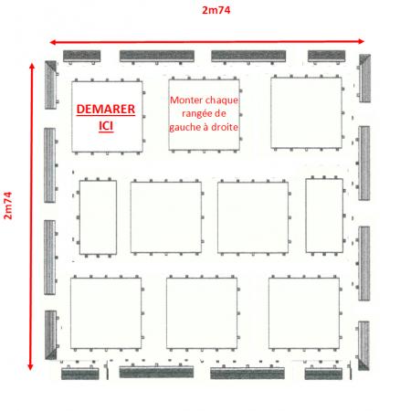 Kit parquet piste de danse - 8m2-18 pax