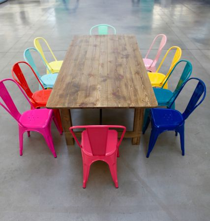 Kit table vintage et chaises Tolix