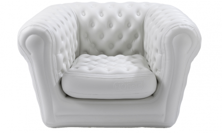 Pack 10 fauteuils chesterfield gonflable Blancs