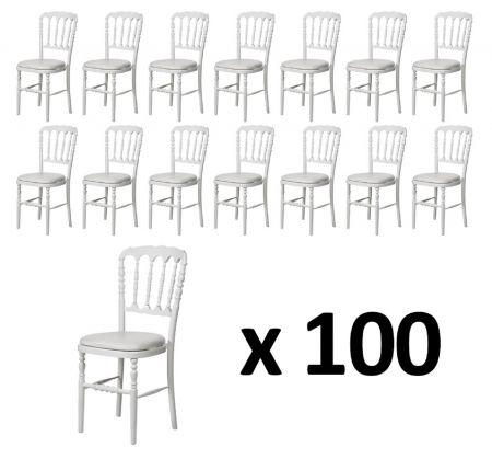 Pack 100 Chaises Napoleon blanche - blanche
