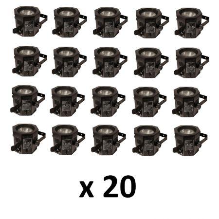 Pack 20 projecteurs PAR 38 (Boite Ambre)