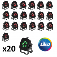 Pack 20 projeteurs led de decoration (Adj - Qa5x)