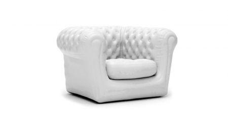 Pack 30 canapés et fauteuils chesterfield gonflables Blancs