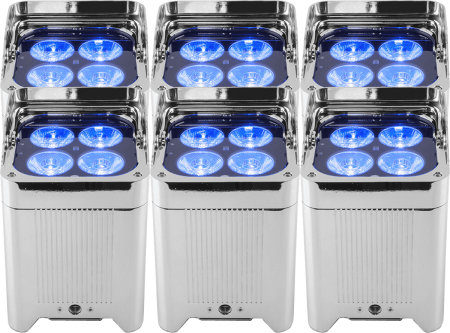 Pack 6 projecteurs déco LED Etanche WELL FIT