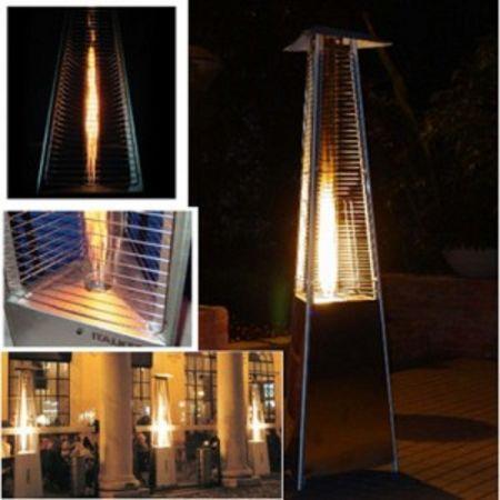 Parasol chauffant au gaz - Flamme design