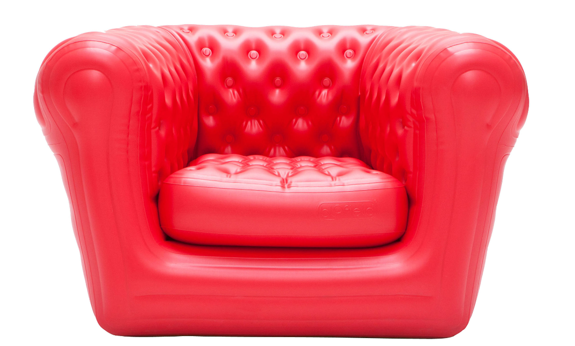 location fauteuil rouge chesterfield gonflable blofield big blo 1. Black Bedroom Furniture Sets. Home Design Ideas