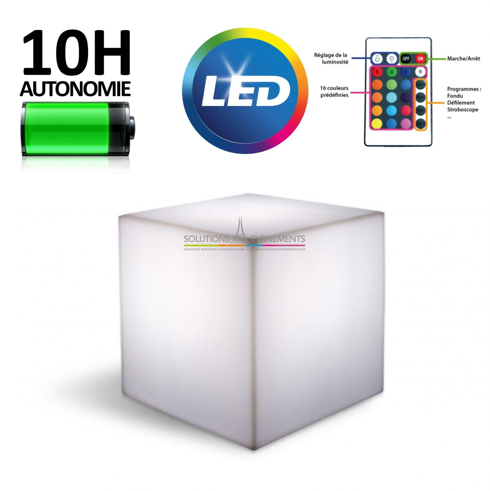 location de cube lumineux led pour evenement et reception. Black Bedroom Furniture Sets. Home Design Ideas