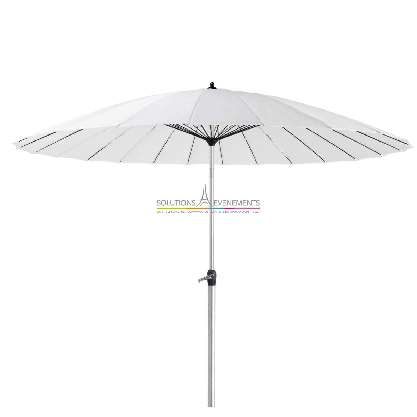 Location parasol couleur en tissu - Location parasol chauffant ...