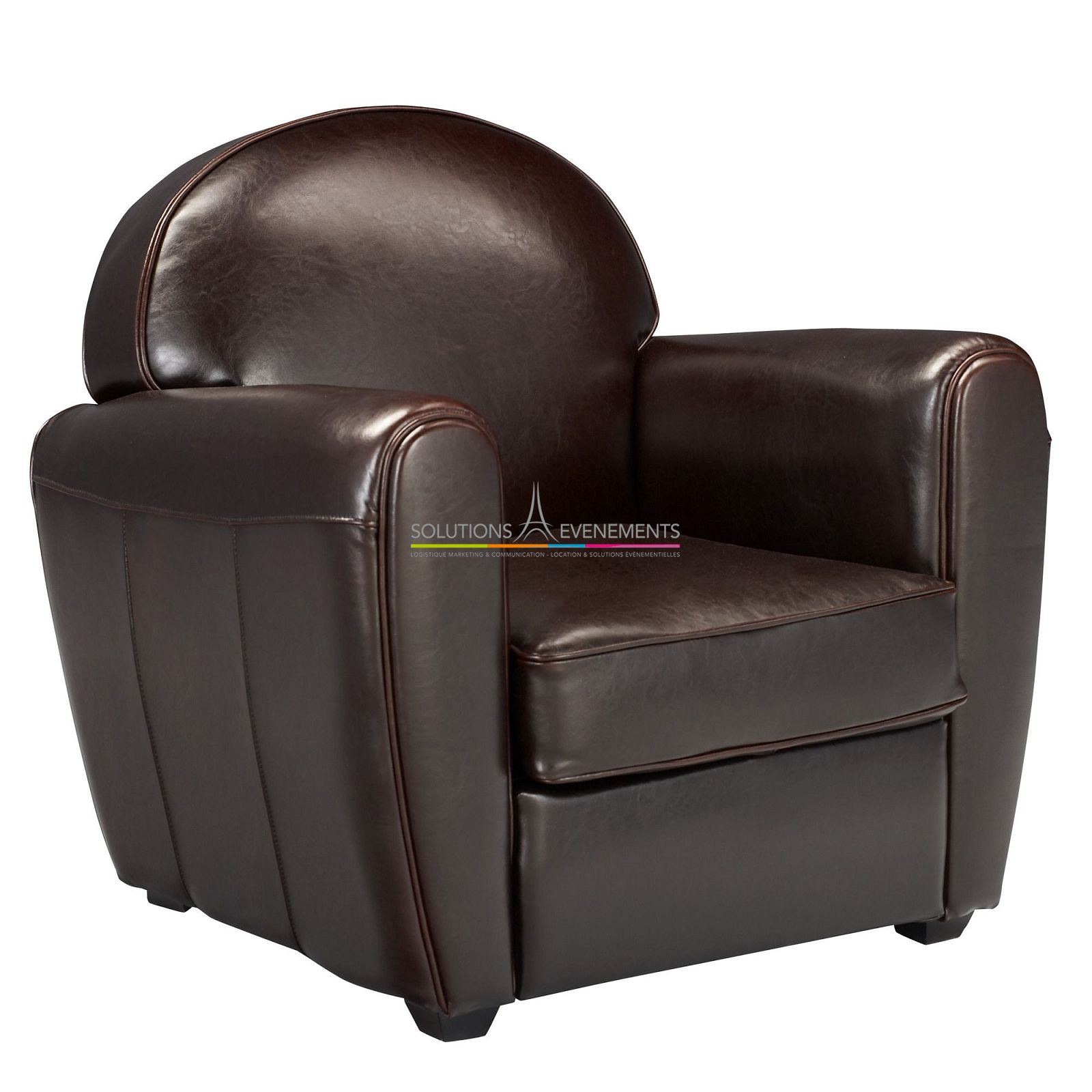 location fauteuil club en cuir. Black Bedroom Furniture Sets. Home Design Ideas