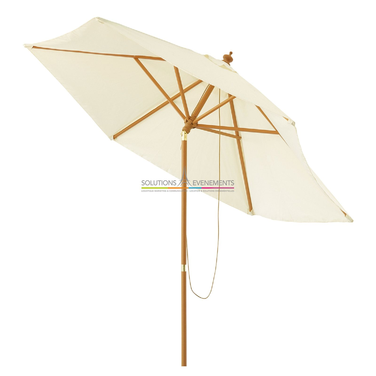 Location parasol tissu beige - Location parasol chauffant ...
