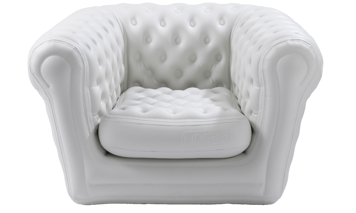 Location fauteuil noir chesterfield gonflable blofield big blo 1 - Fauteuil chesterfield blanc ...