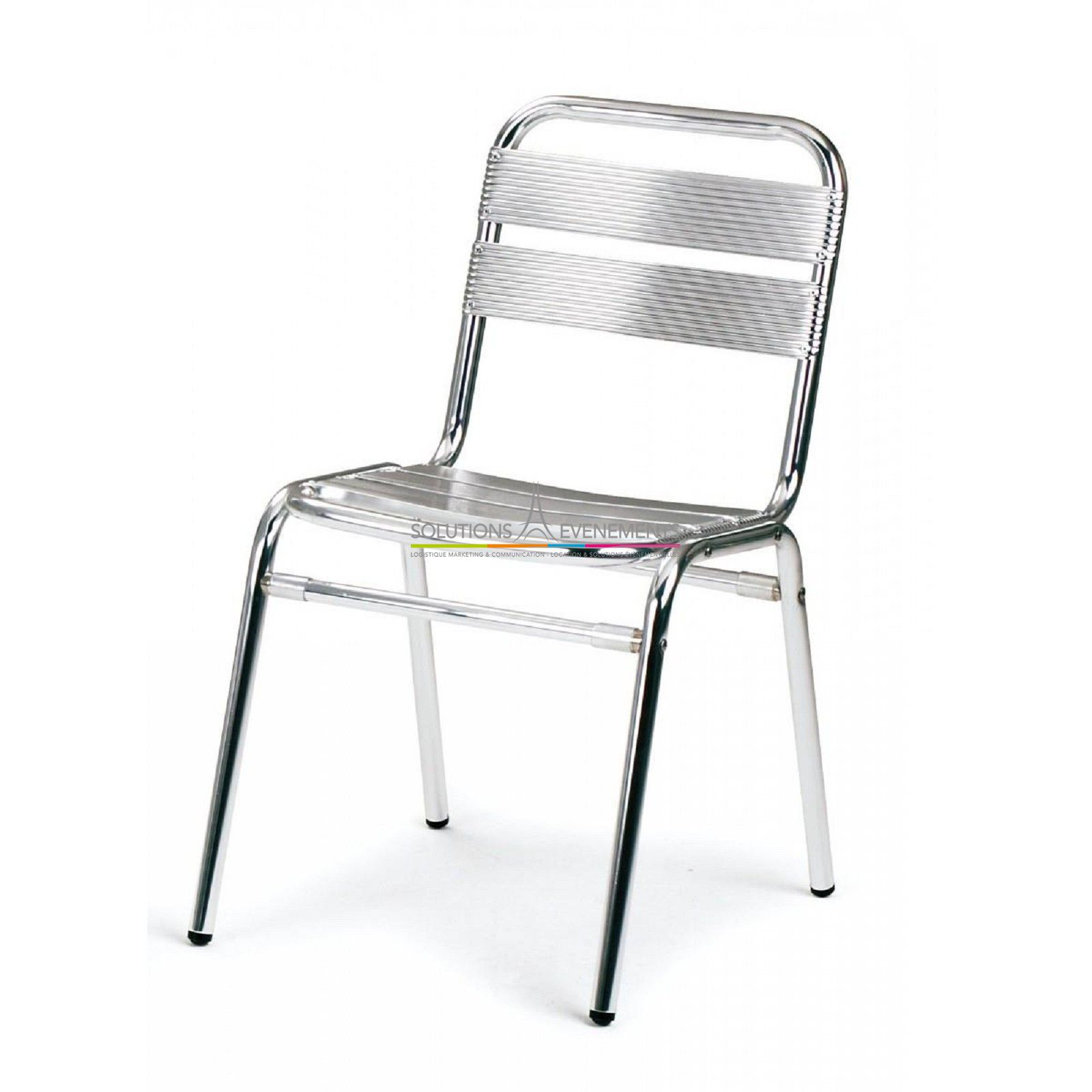 Location chaise bistrot alu inox solutions evenements for Chaise bistrot but