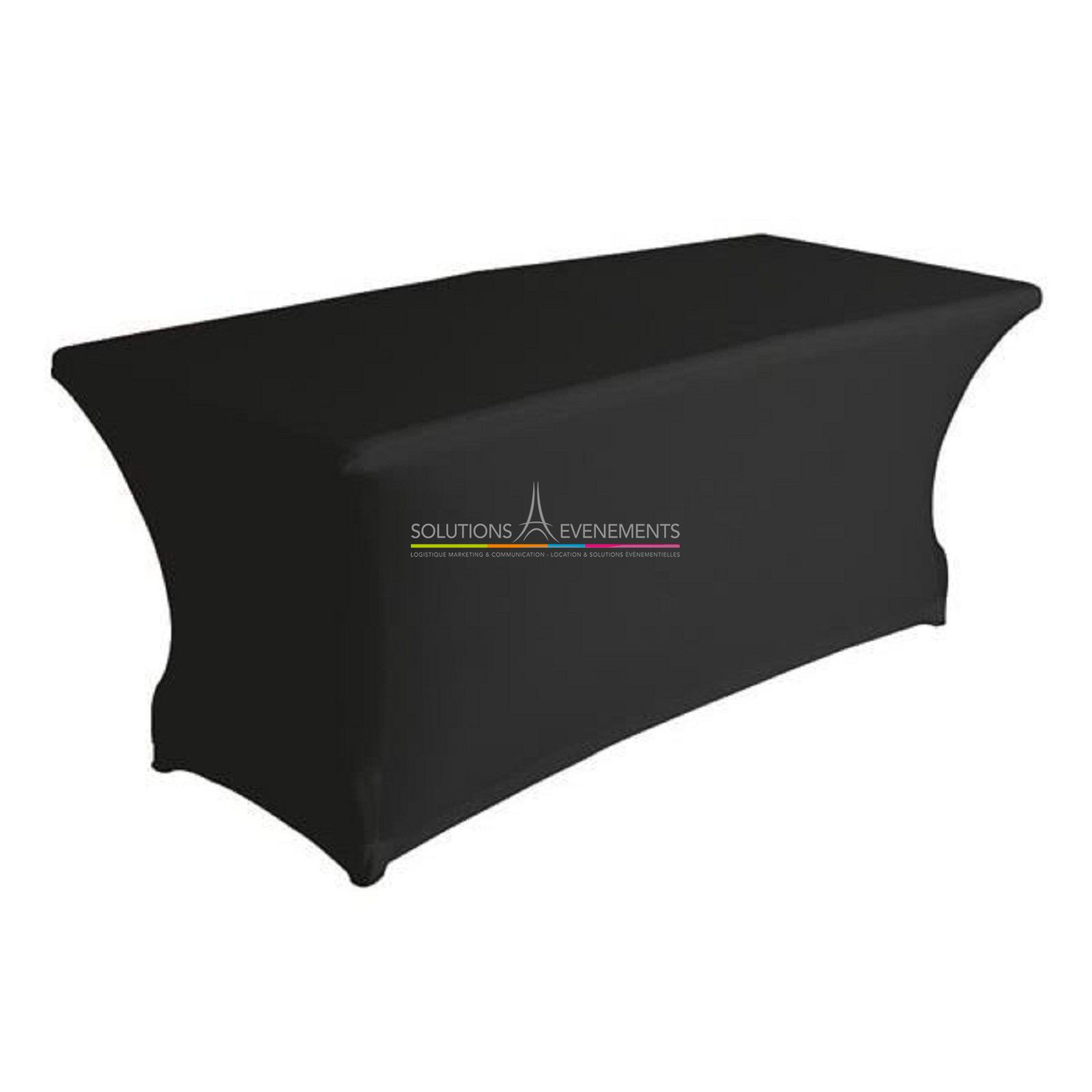 Location table rectangualaire noire pour evenement for Table rectangulaire 6 personnes