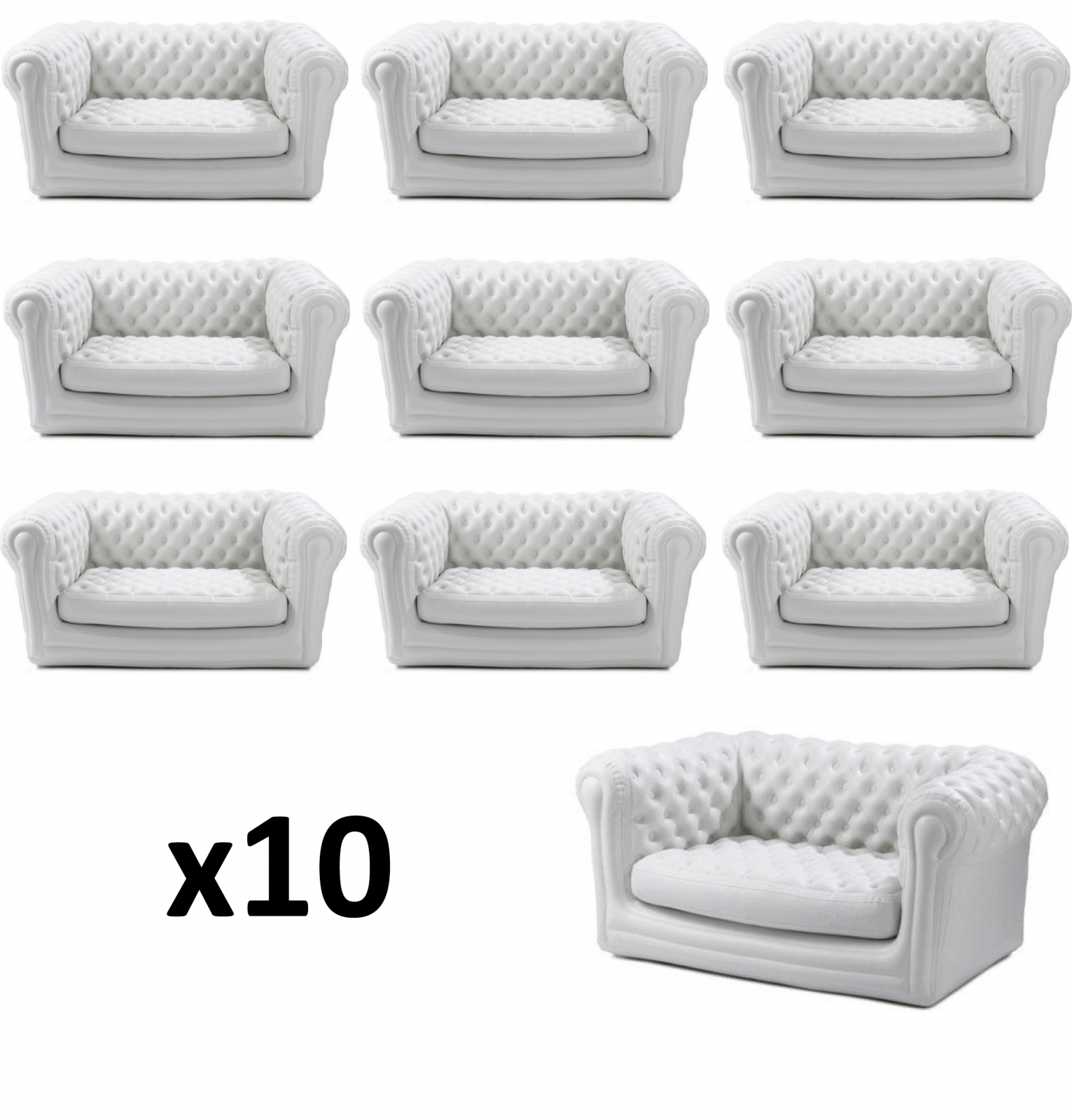 Location canap blanc chesterfield gonflable - Canape gonflable chesterfield ...