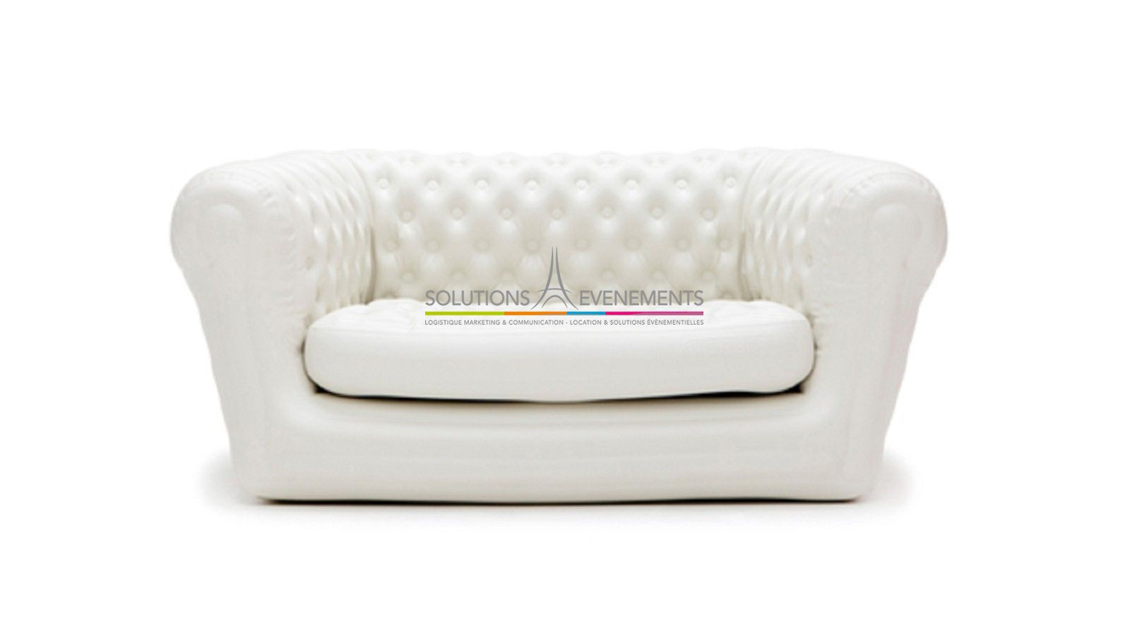 Canape chesterfield blanc maison design for Canape chesterfield
