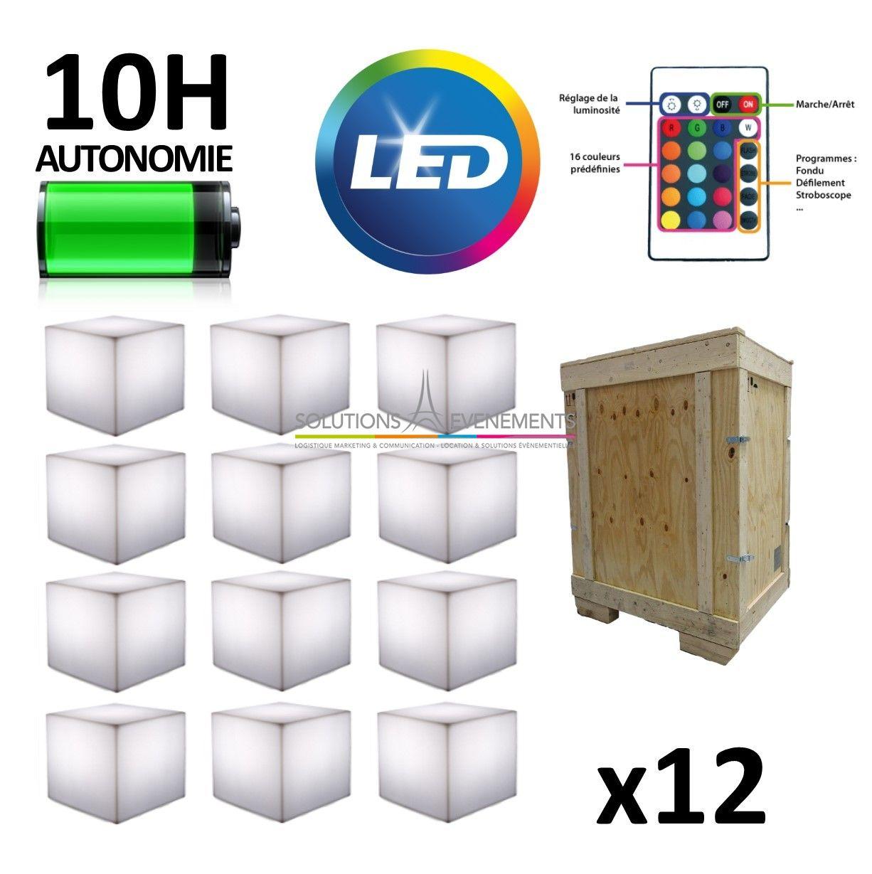 Location cube lumineux led pas cher pour evenement et for Cube lumineux exterieur sans fil