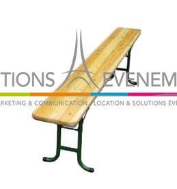 location banc kermesse en bois. Black Bedroom Furniture Sets. Home Design Ideas